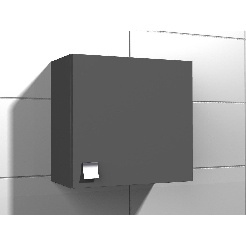 Armoire de wc x x cm gris coin d 39 o for Armoire de rangement leroy merlin