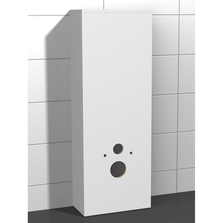 Coffrage pour wc suspendu x x cm blanc coin d 39 o le - Habillage wc suspendu leroy merlin ...