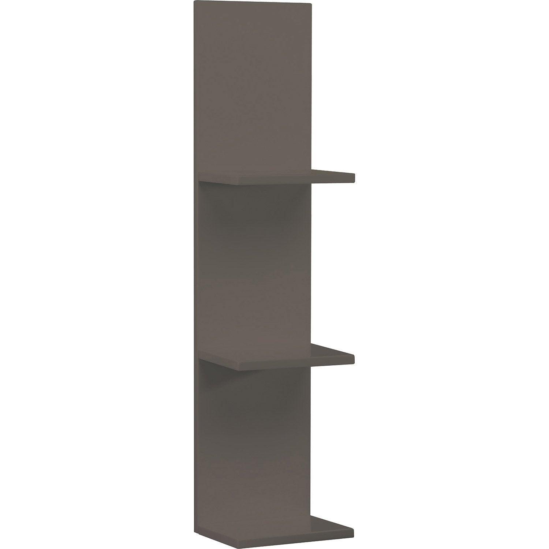 etag re de wc remix brun taupe n 3 leroy merlin. Black Bedroom Furniture Sets. Home Design Ideas
