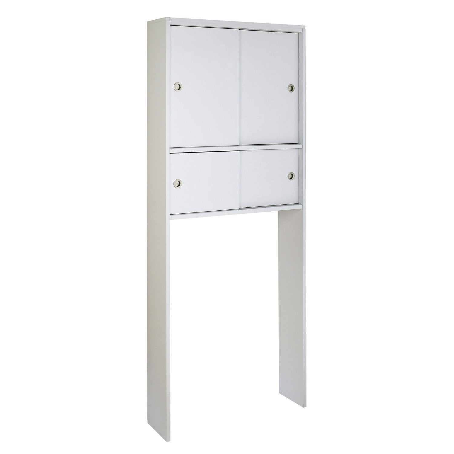 Meuble pour wc poser x x cm blanc sensea remix leroy merlin for Meuble wc conforama