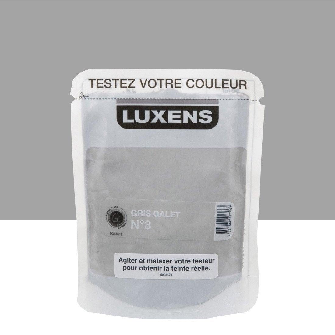 Testeur peinture gris galet 3 luxens couleurs int rieures - Peinture leroy merlin luxens ...