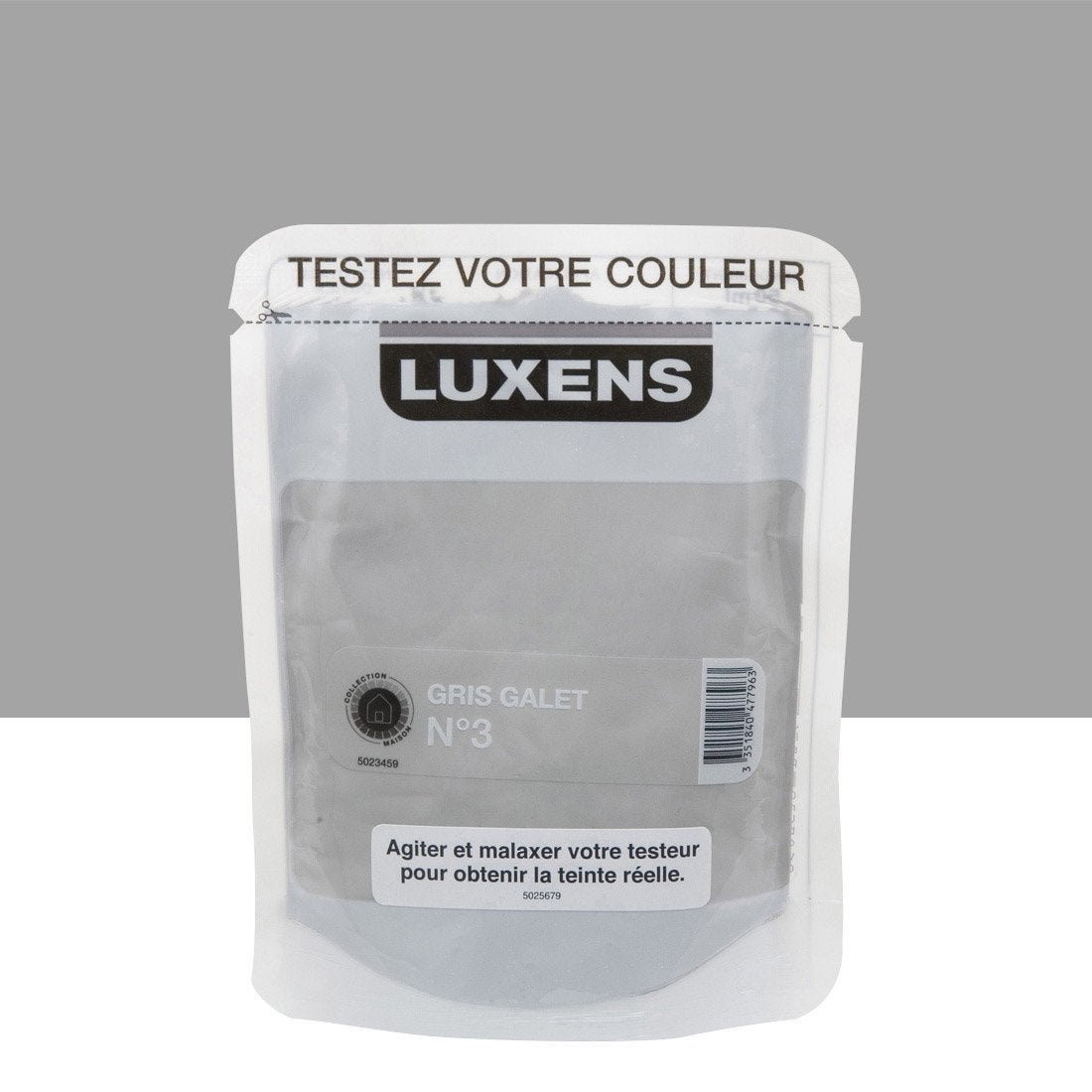 Testeur peinture gris galet 3 luxens couleurs int rieures - Galet leroy merlin ...