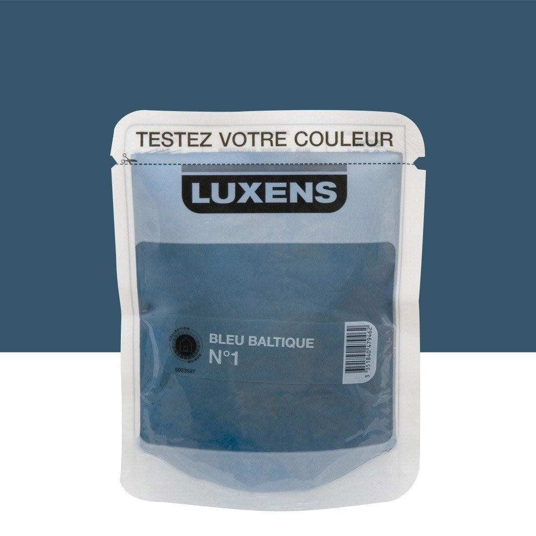 Testeur peinture couleurs int rieures satin luxens bleu - Peinture bleu fjord ...