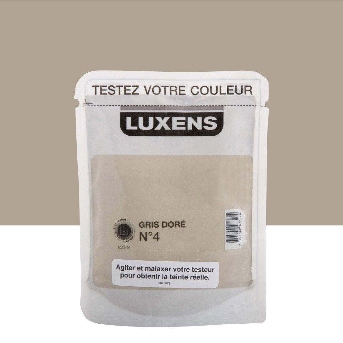 testeur peinture gris dor 4 luxens couleurs int rieures satin l leroy merlin. Black Bedroom Furniture Sets. Home Design Ideas