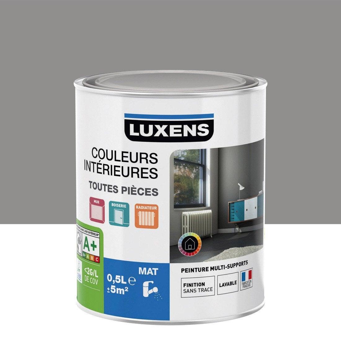 Peinture Gris Galet 3 Luxens Couleurs Int Rieures Mat 0 5 L Leroy Merlin