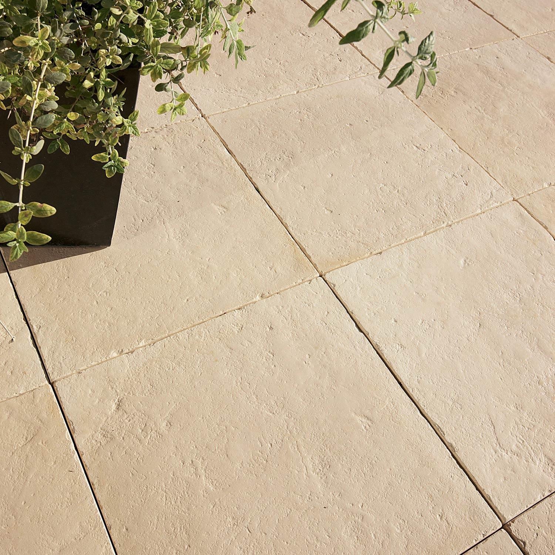 Dalle pierre reconstitu e st flour ton pierre x l - Carrelage terrasse leroy merlin ...