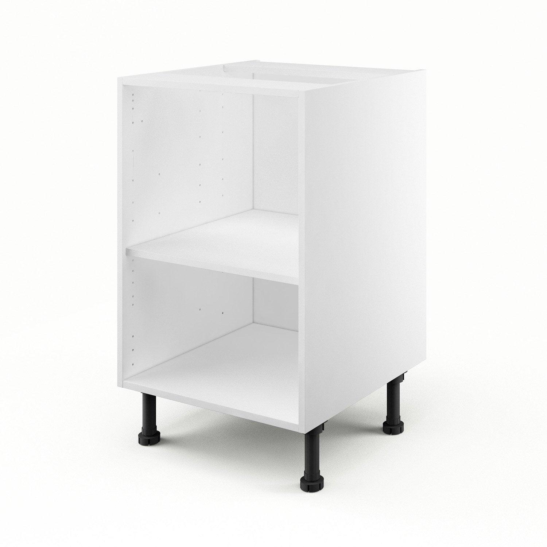 caisson de cuisine bas b50 delinia blanc l50 x h85 x p56. Black Bedroom Furniture Sets. Home Design Ideas