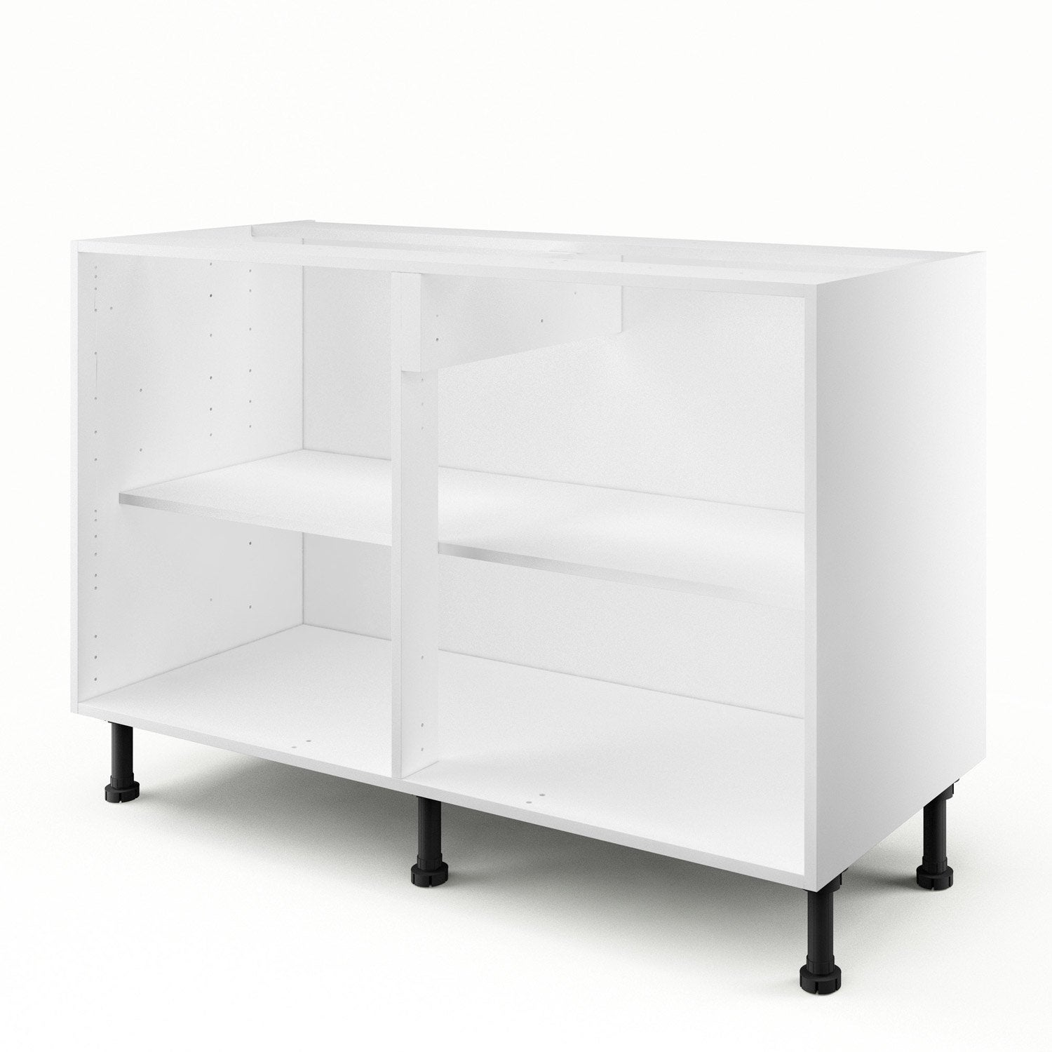 caisson de cuisine bas b120 delinia blanc x x cm leroy merlin. Black Bedroom Furniture Sets. Home Design Ideas