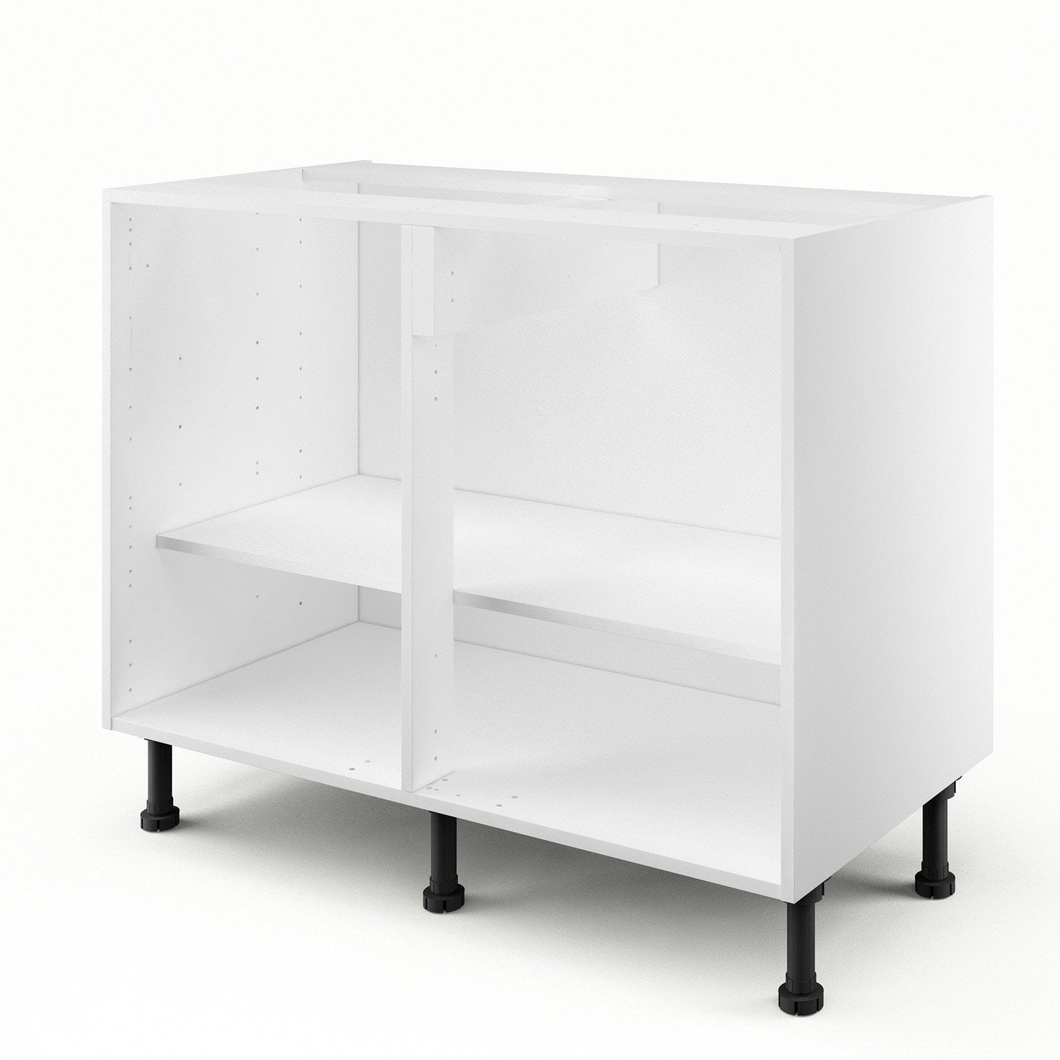 caisson de cuisine bas b100 ab100 delinia blanc x x cm leroy merlin. Black Bedroom Furniture Sets. Home Design Ideas