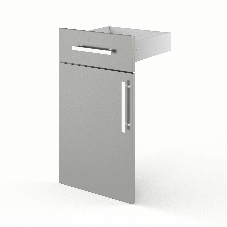 Porte et tiroir de cuisine gris d lice x x - Cuisine delice leroy merlin ...