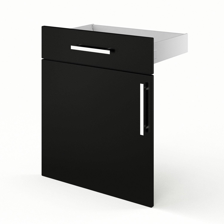 Porte et tiroir de cuisine noir d lice x x for Porte 60 x 180