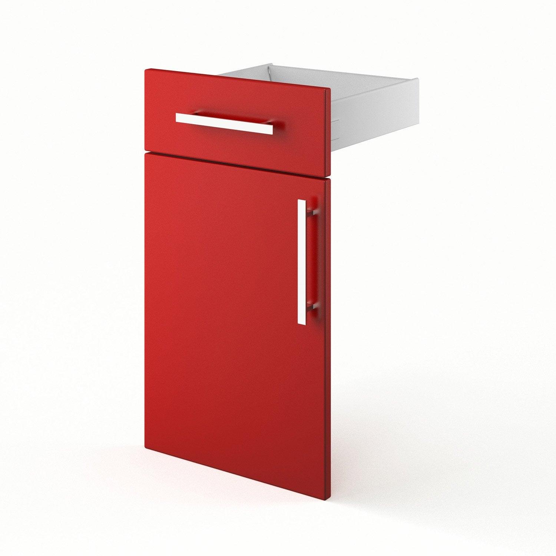 Porte Et Tiroir De Cuisine Rouge Fd40 35 D Lice X H