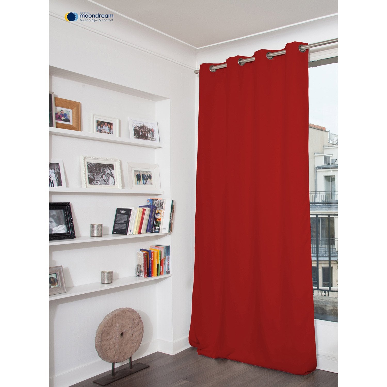 Rideau occultant phonique phonique rouge x - Rideau occultant leroy merlin ...