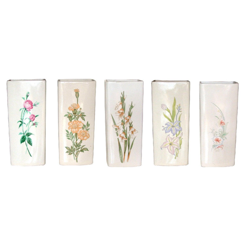saturateur plat c ramique motif fleur 300 ml leroy merlin. Black Bedroom Furniture Sets. Home Design Ideas