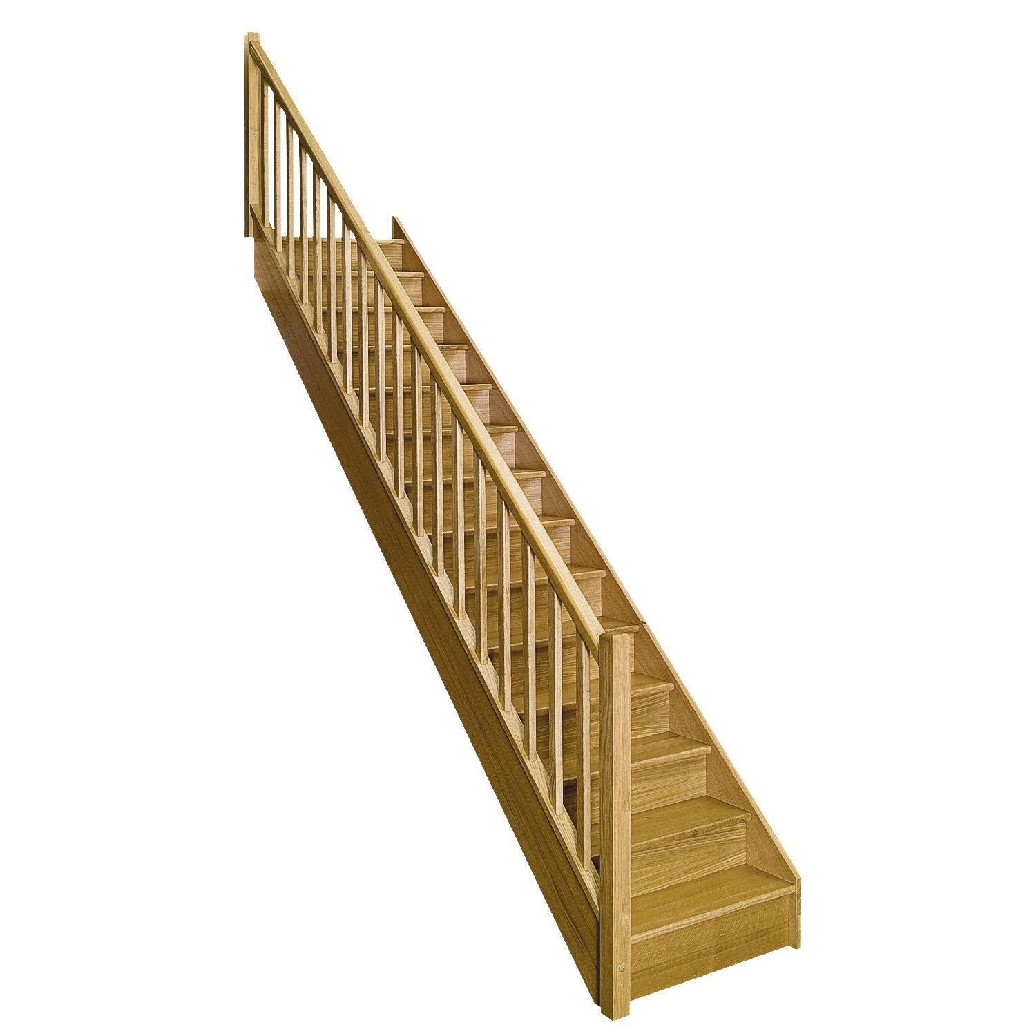 Escalier Bois Leroy Merlin : authentic, marches/structure bois massif ch?ne brut Leroy Merlin