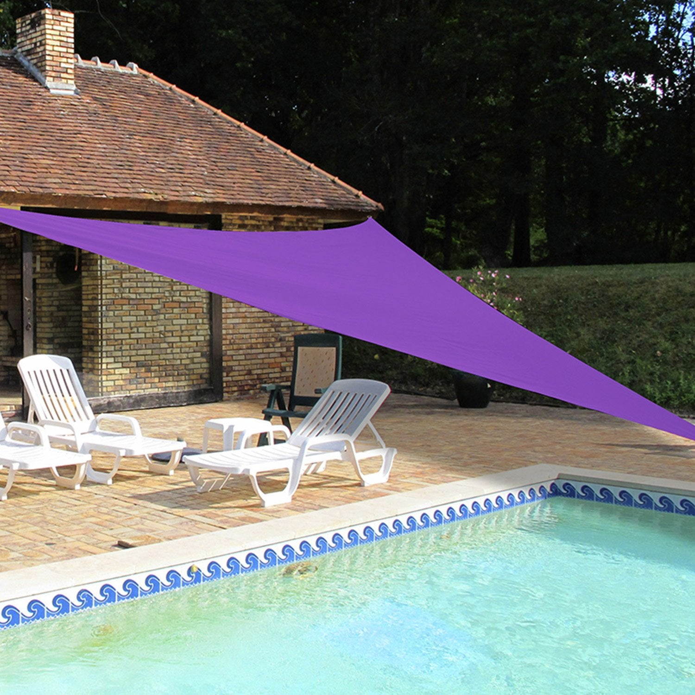 voile d 39 ombrage triangulaire violet 500 cm leroy merlin. Black Bedroom Furniture Sets. Home Design Ideas