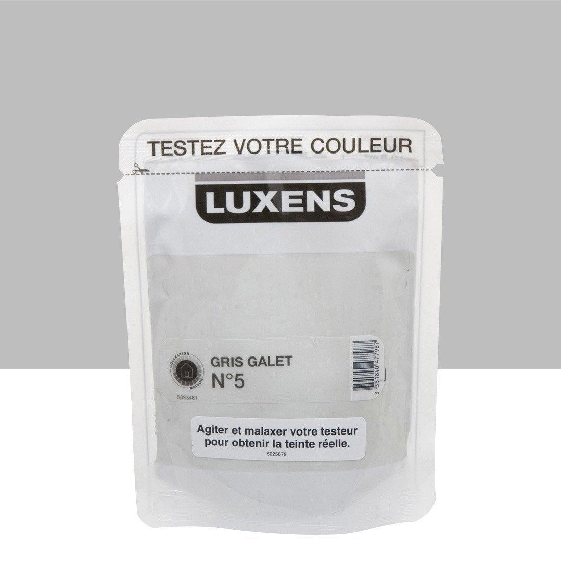 Testeur peinture couleurs int rieures satin luxens gris - Peinture leroy merlin luxens ...