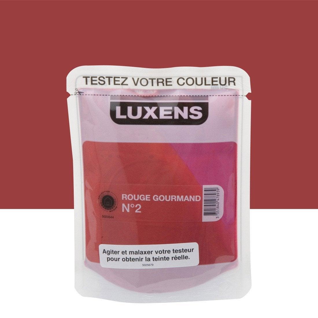 testeur peinture rouge gourmand 2 luxens couleurs int rieures satin l leroy merlin. Black Bedroom Furniture Sets. Home Design Ideas