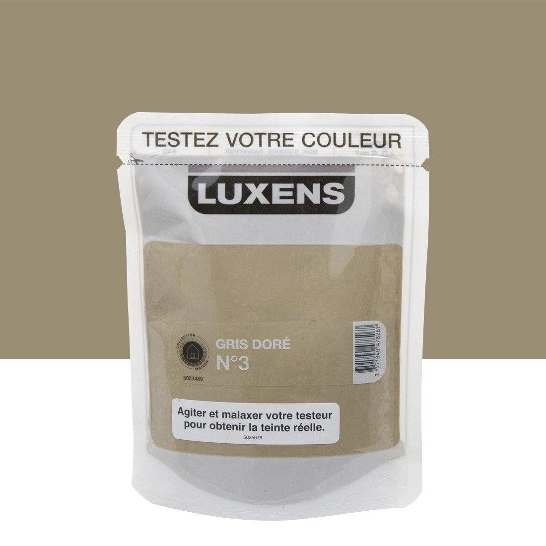 Testeur peinture gris dor 3 luxens couleurs int rieures - Peinture leroy merlin luxens ...