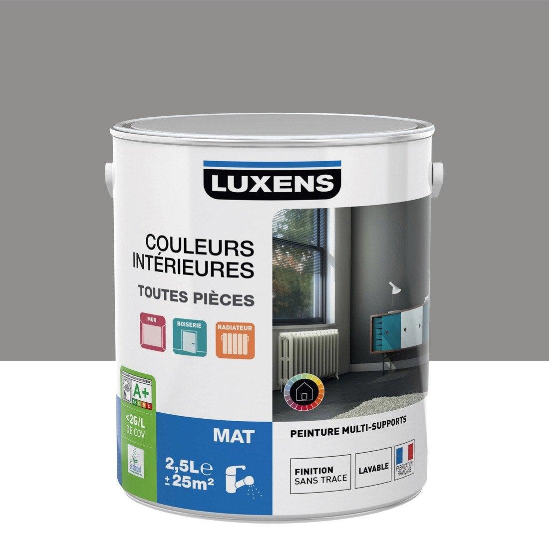 peinture gris galet 3 luxens couleurs int rieures mat 2 5 l leroy merlin. Black Bedroom Furniture Sets. Home Design Ideas