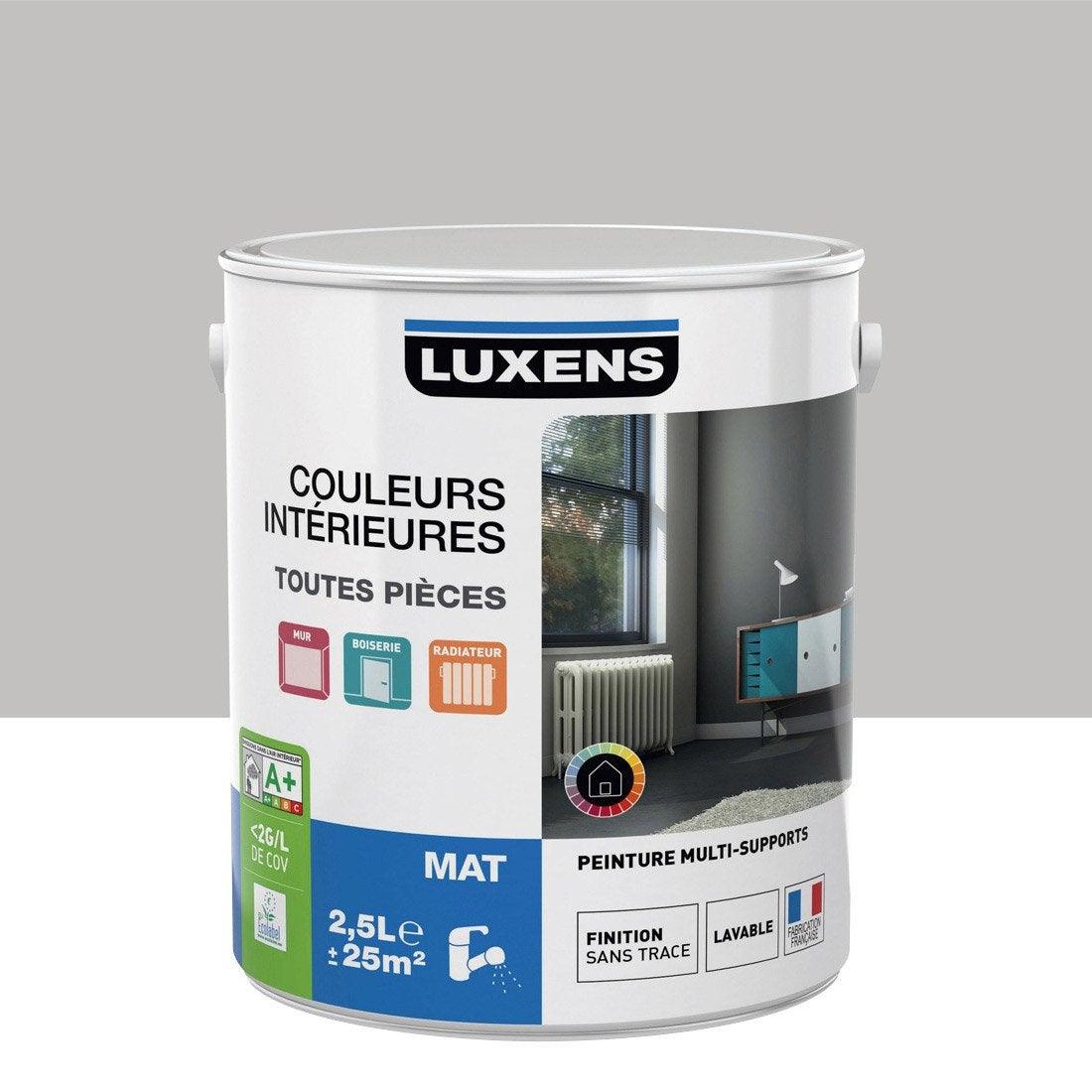 peinture gris galet 5 luxens couleurs int rieures mat 2 5 l leroy merlin. Black Bedroom Furniture Sets. Home Design Ideas