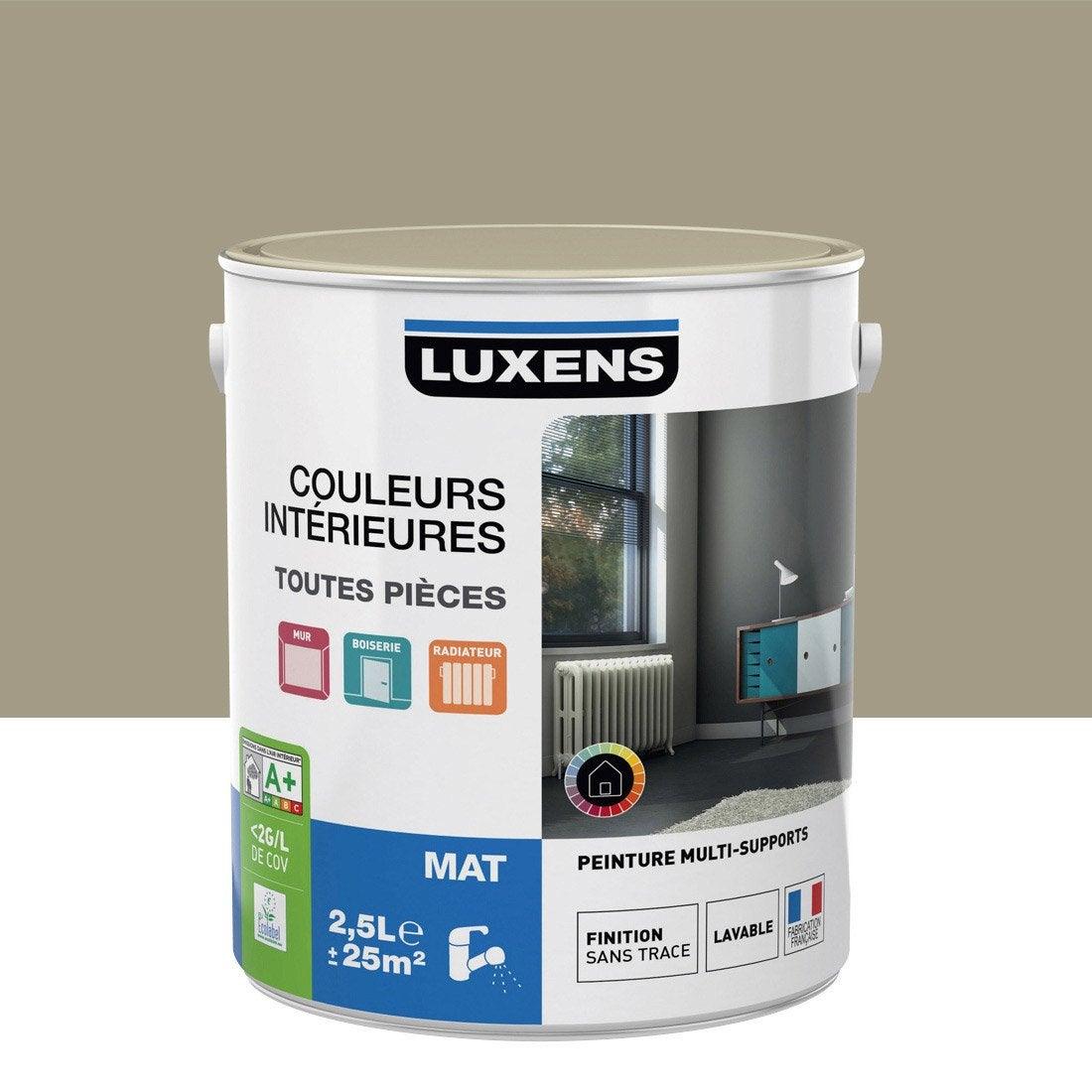 Peinture gris dor 5 luxens couleurs int rieures mat 2 5 l - Peinture grise leroy merlin ...