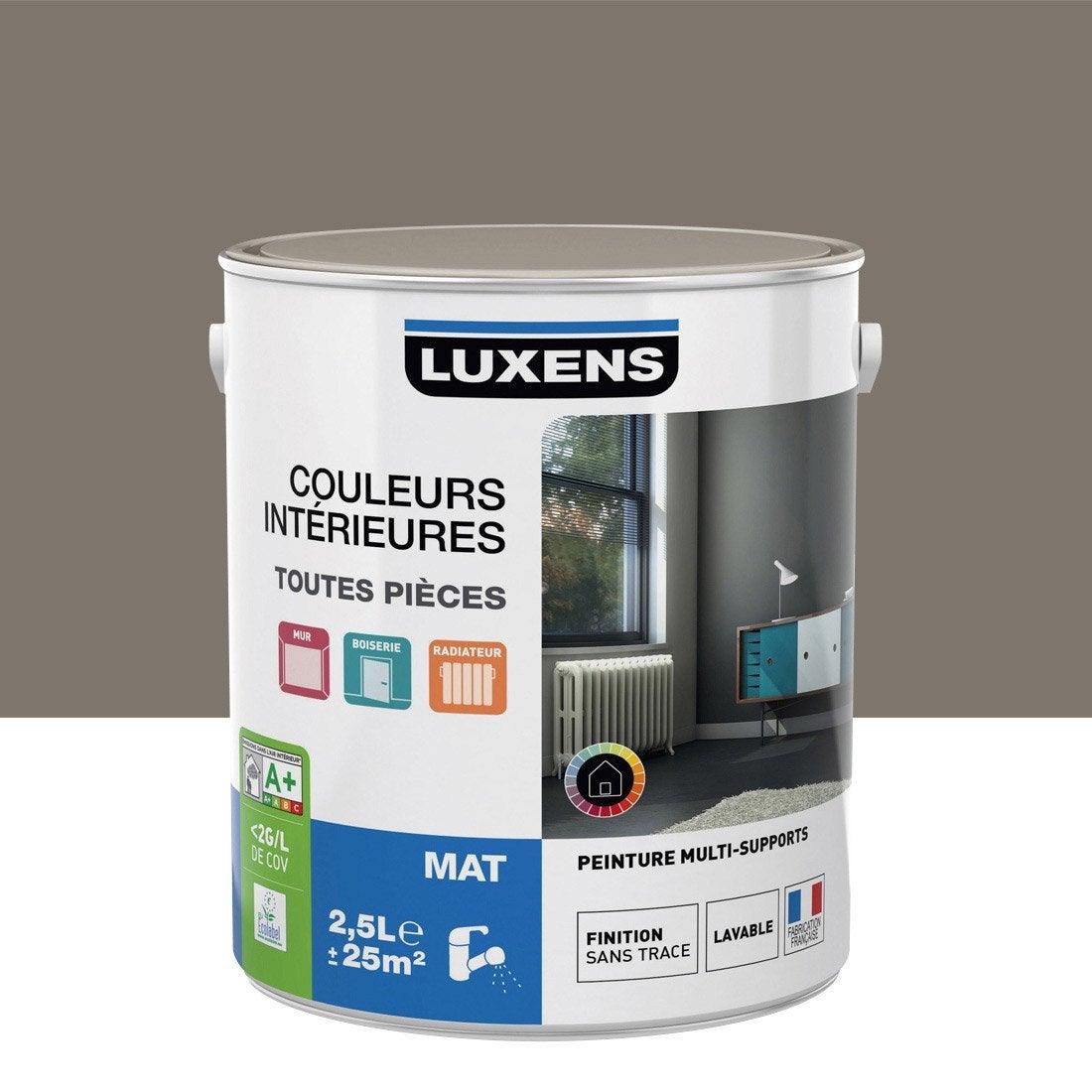 Peinture brun taupe 3 luxens couleurs int rieures mat 2 5 for Peinture salon leroy merlin