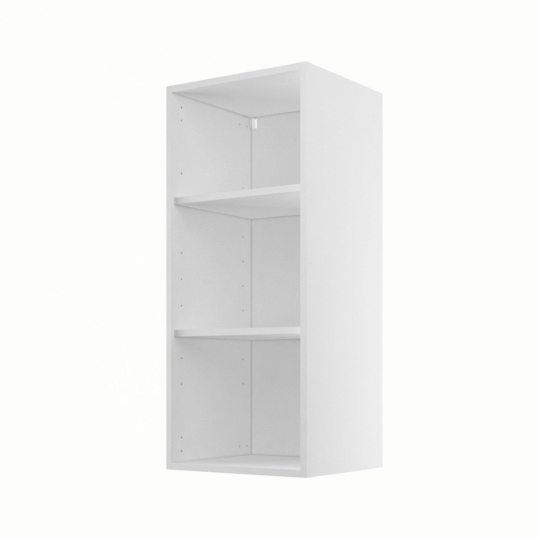 caisson de cuisine haut h40 92 delinia blanc x x cm leroy merlin. Black Bedroom Furniture Sets. Home Design Ideas