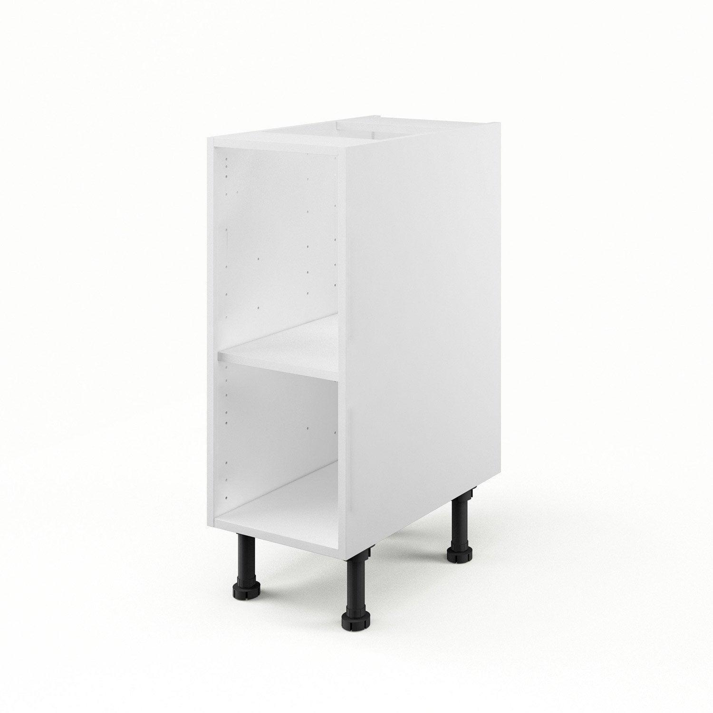 caisson de cuisine bas b30 delinia blanc l.30 x h.85 x p.56 cm