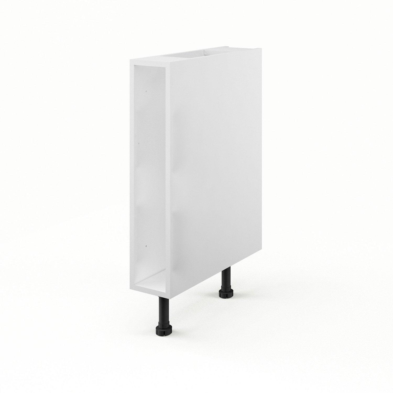 Caisson de cuisine bas b15 delinia blanc l15 x h85 x p56 for Caisson pour meuble de cuisine