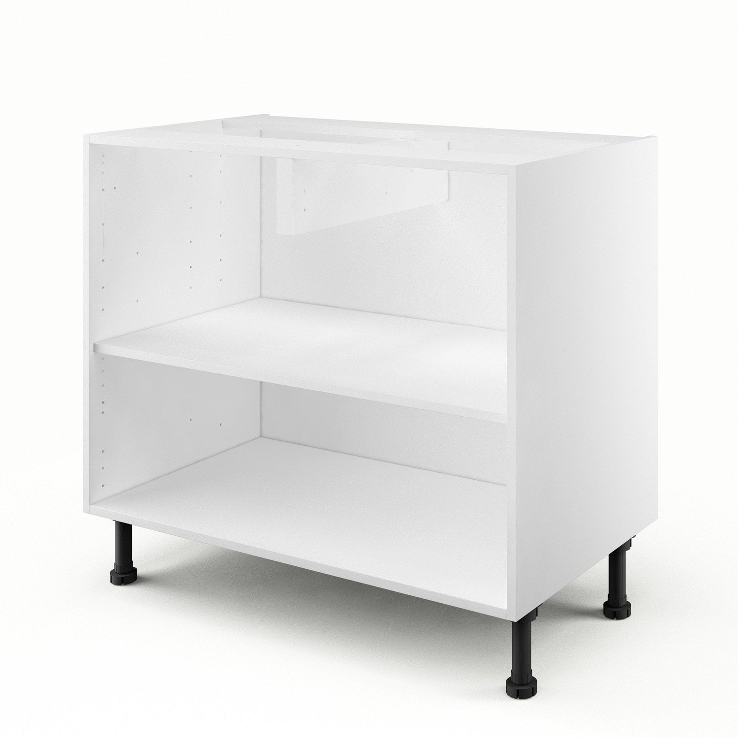 caisson de cuisine bas b90 delinia blanc x x p. Black Bedroom Furniture Sets. Home Design Ideas