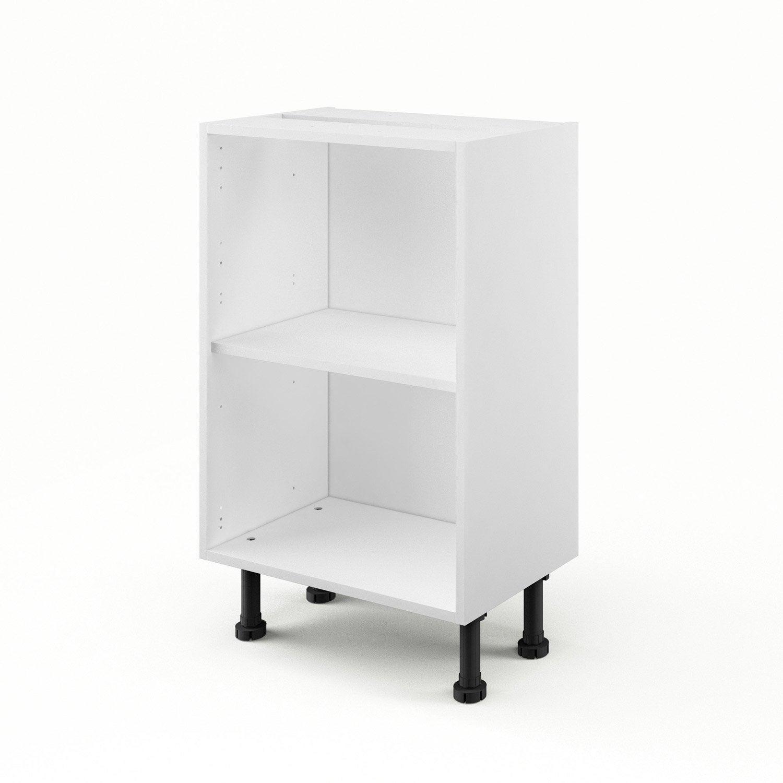 caisson de cuisine bas b50 35 delinia blanc l50 x h85 x. Black Bedroom Furniture Sets. Home Design Ideas