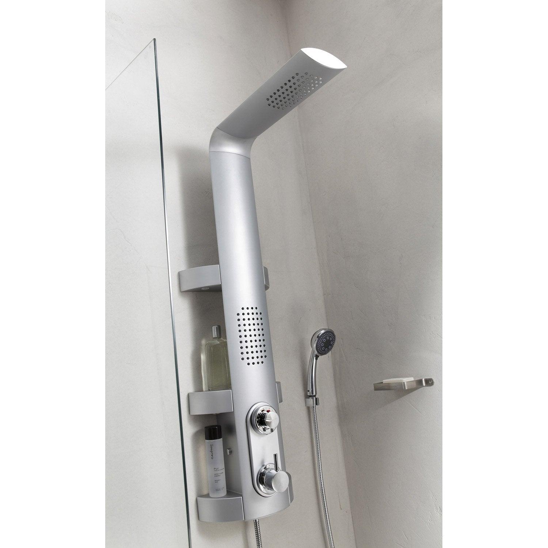 colonne de douche hydromassante valentin issime aluminium