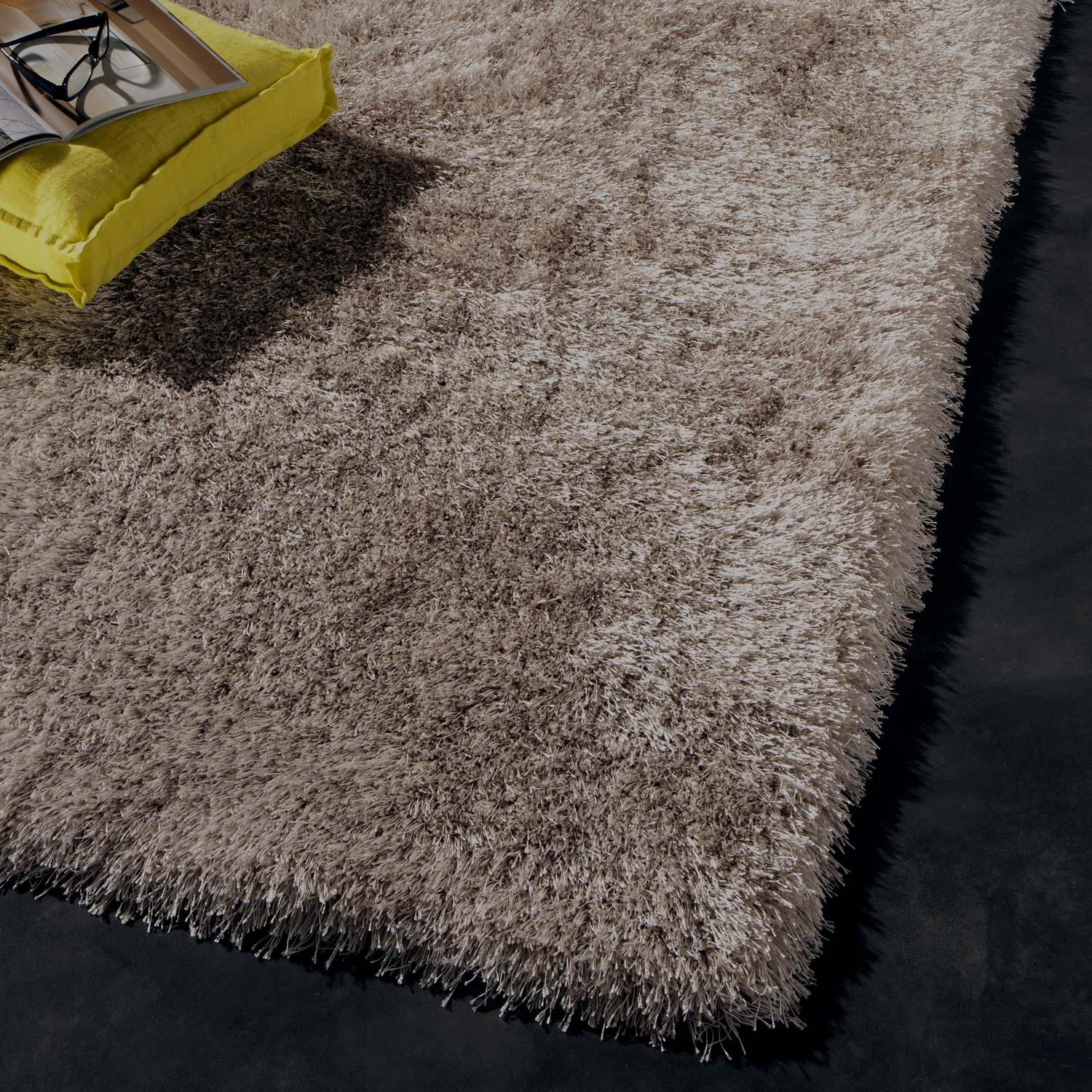 tapis taupe shaggy polaris x cm leroy merlin. Black Bedroom Furniture Sets. Home Design Ideas