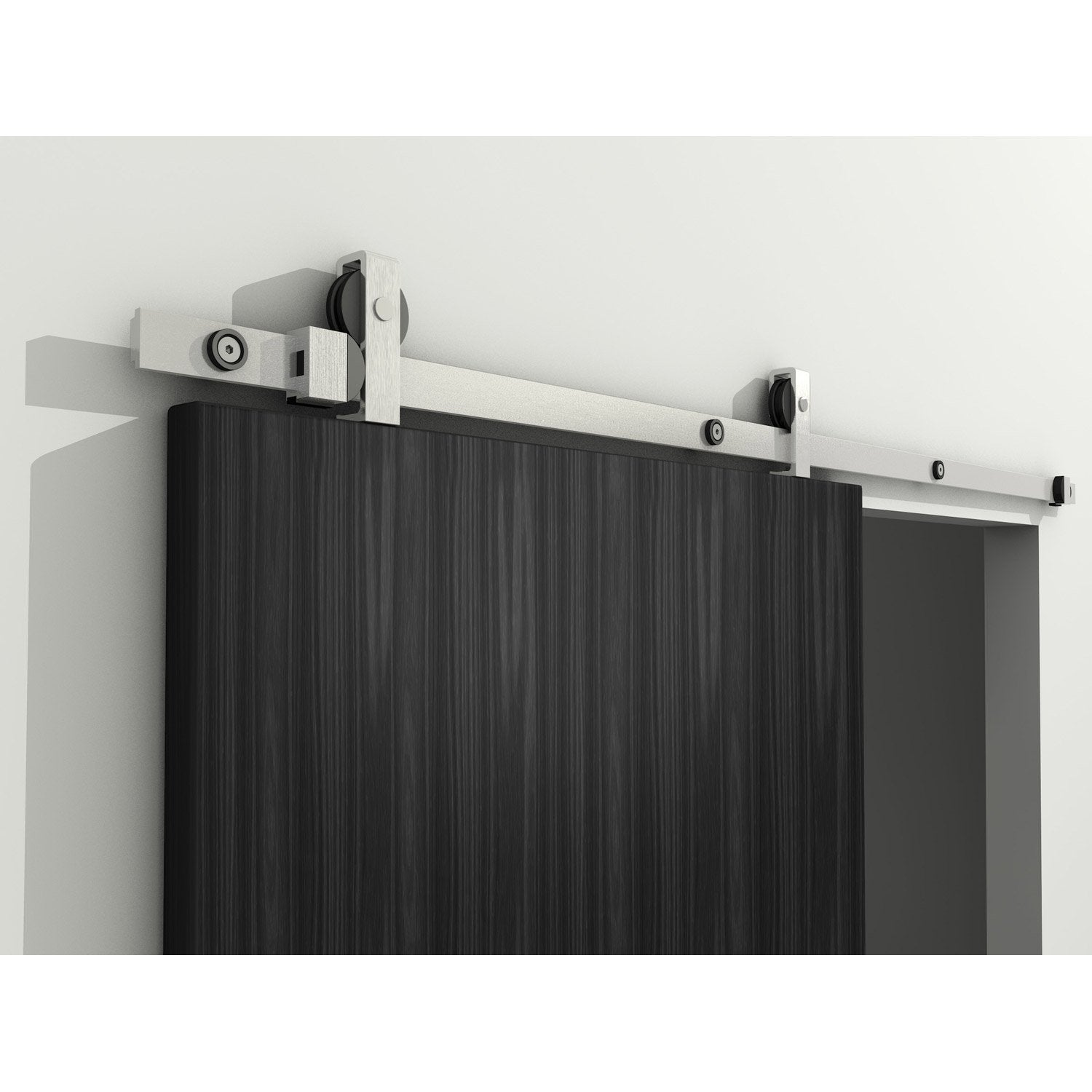 Rail coulissant modern pour porte de largeur 63 83 cm for Porte de salon leroy merlin