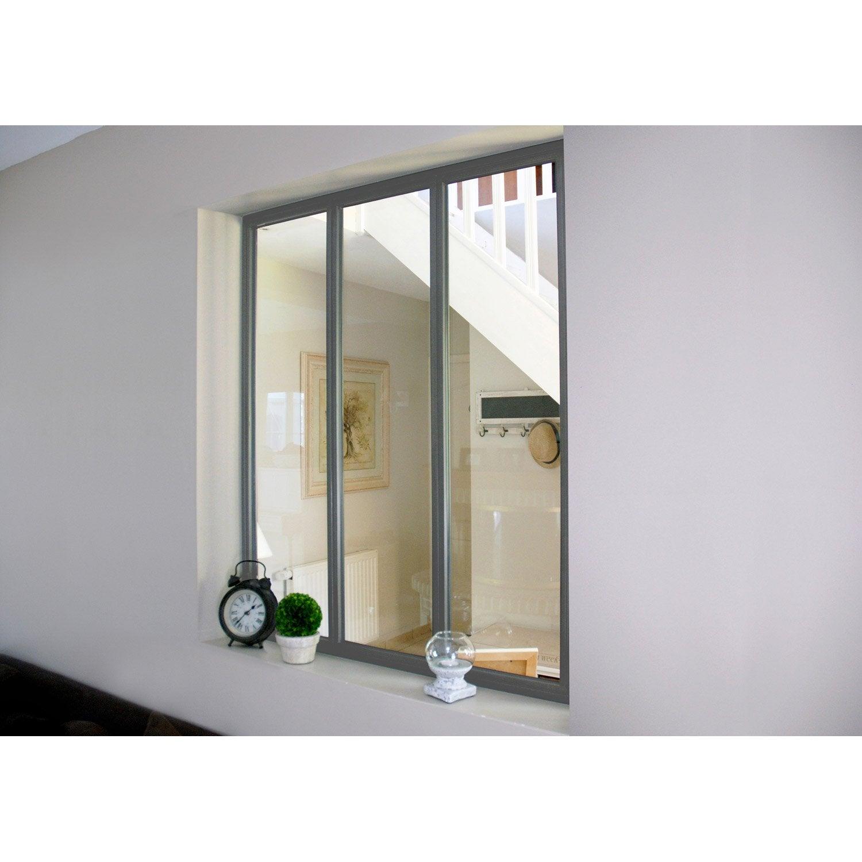 verri re atelier en kit aluminium gris vitrage non fourni. Black Bedroom Furniture Sets. Home Design Ideas