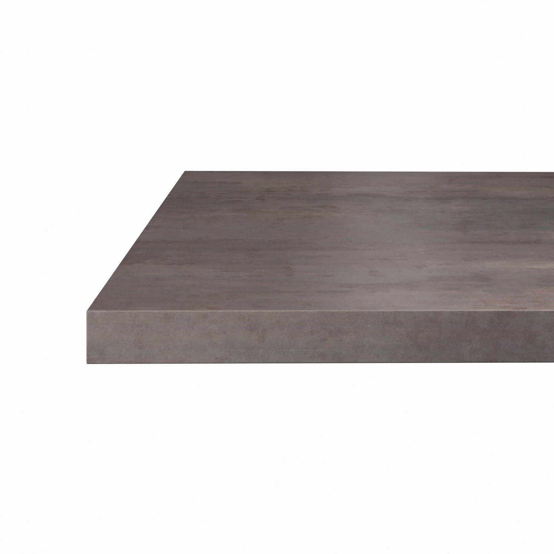 plan snack stratifi effet acier tremp mat x cm mm leroy merlin. Black Bedroom Furniture Sets. Home Design Ideas