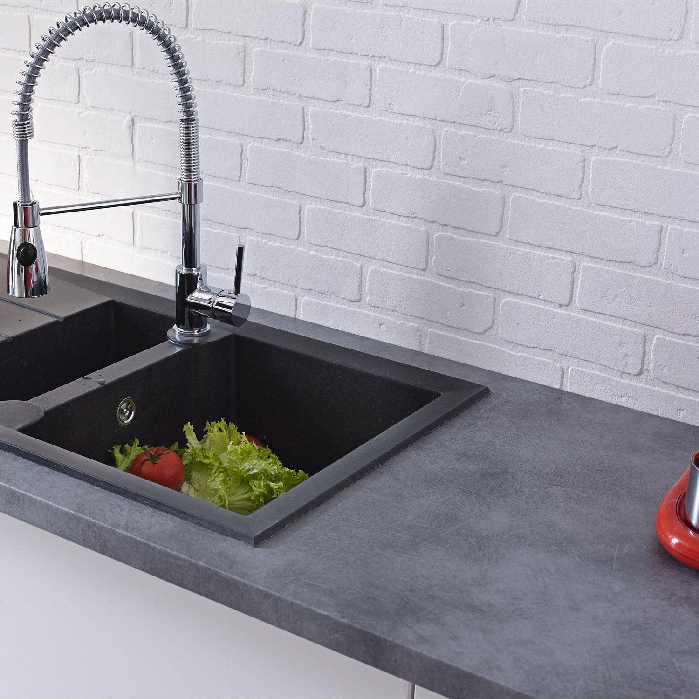 plan de travail stratifi b ton mat x cm mm leroy merlin. Black Bedroom Furniture Sets. Home Design Ideas