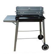 barbecue au charbon de bois newsteelcook noir et gris. Black Bedroom Furniture Sets. Home Design Ideas