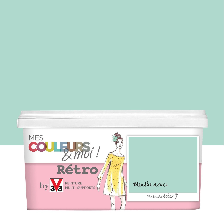Peinture exterieur couleur menthe - Peinture v33 leroy merlin ...