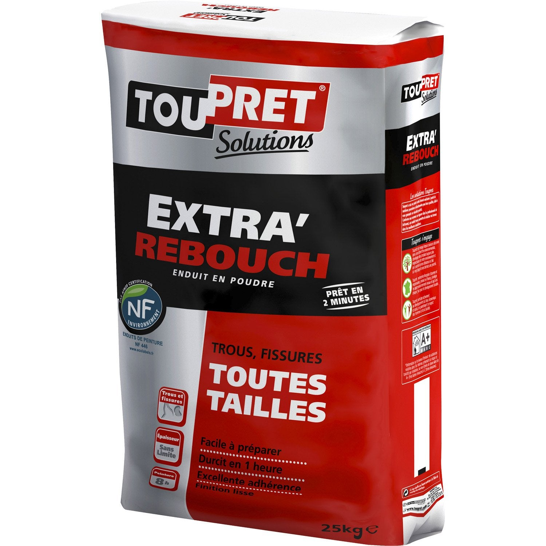 Enduit de rebouchage poudre extra 39 rebouch toupret 25 kg - Enduit de lissage exterieur toupret ...