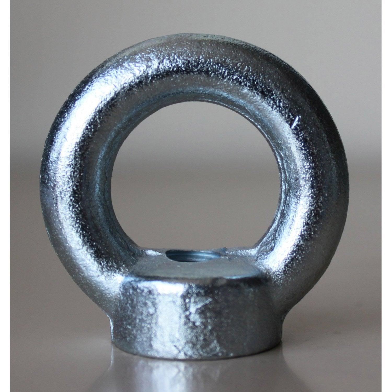 1 anneau crou visser acier zingu standers leroy merlin. Black Bedroom Furniture Sets. Home Design Ideas
