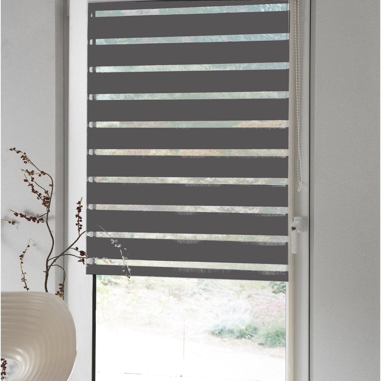 store enrouleur jour nuit jour nuit inspire gris galet n 1 52 55 x 170 cm leroy merlin. Black Bedroom Furniture Sets. Home Design Ideas