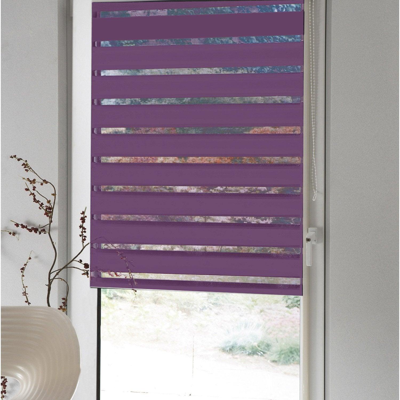 store enrouleur polyester jour nuit inspire violet 42 45. Black Bedroom Furniture Sets. Home Design Ideas