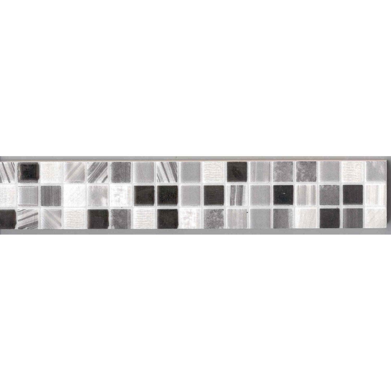 Lot De 4 Listels Mini Mosaique Gris L 5 X Cm Leroy Merlin