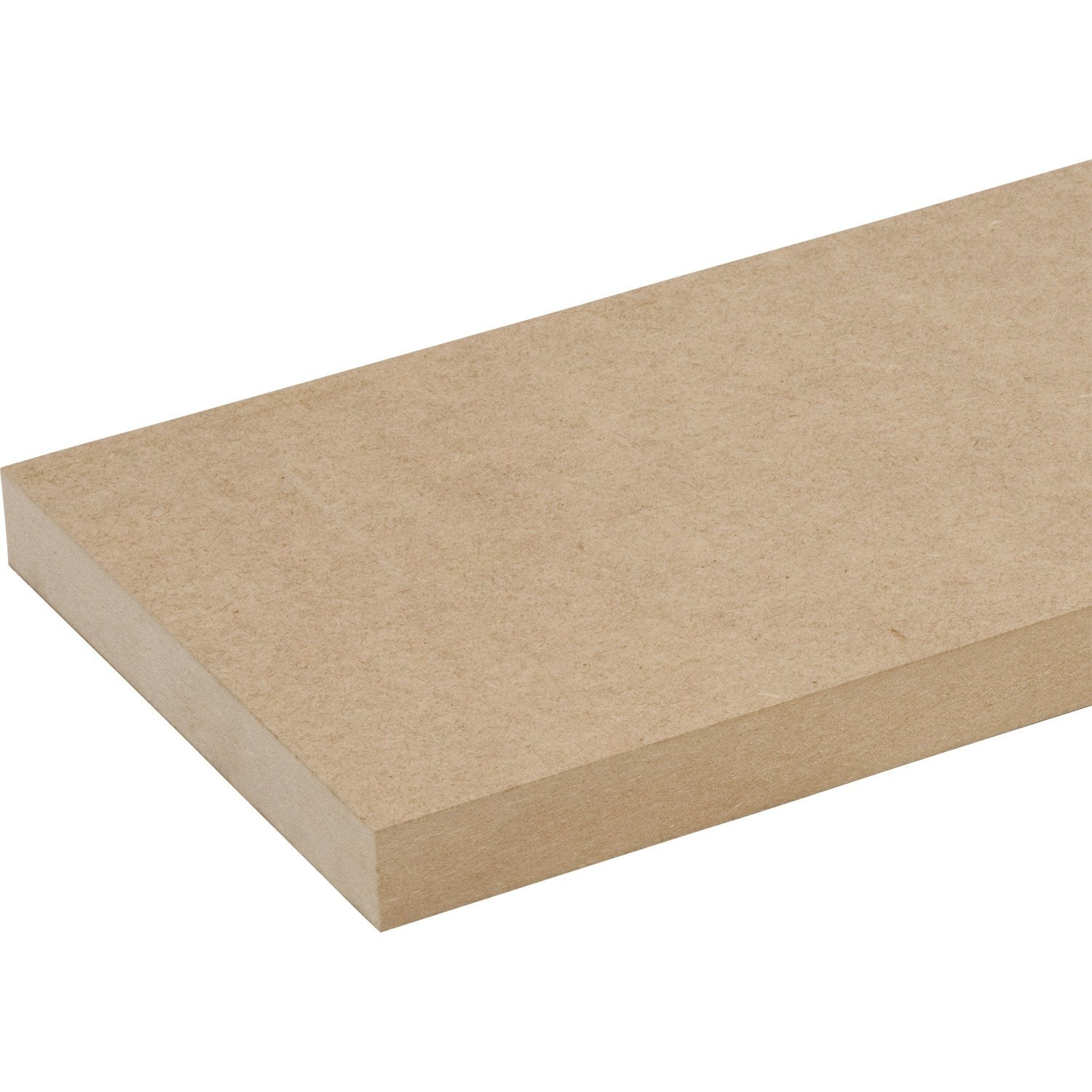 Tablette mdf spaceo brut 250x20cm p 28mm leroy merlin for Tablette spaceo leroy merlin