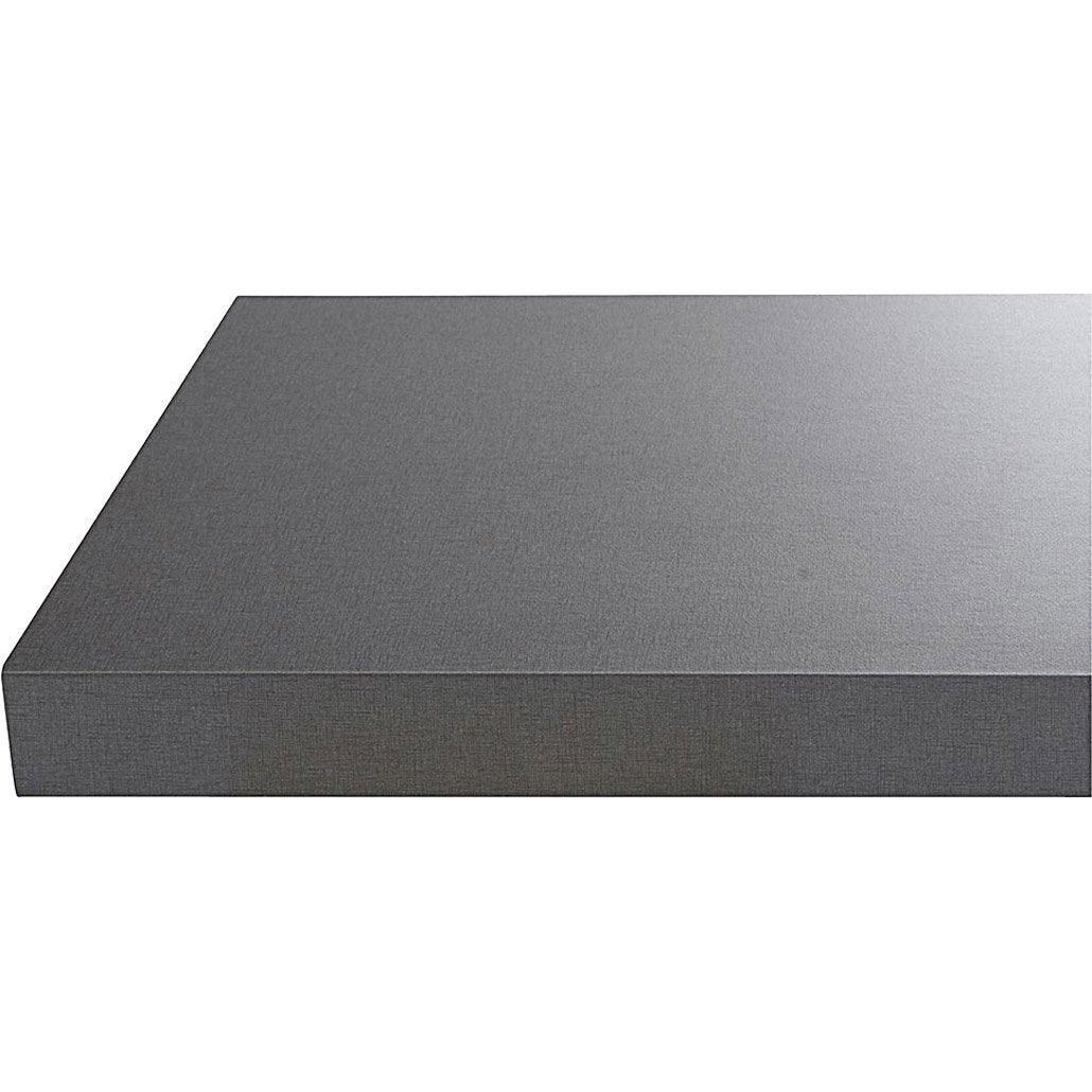 Plan de travail stratifi gris effet m tal 315 x 65 cm - Decoupe plan de travail leroy merlin ...
