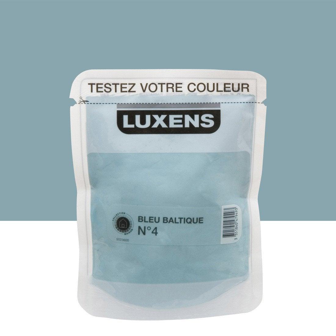 Salon Bleu Baltique : Testeur peinture bleu baltique luxens couleurs