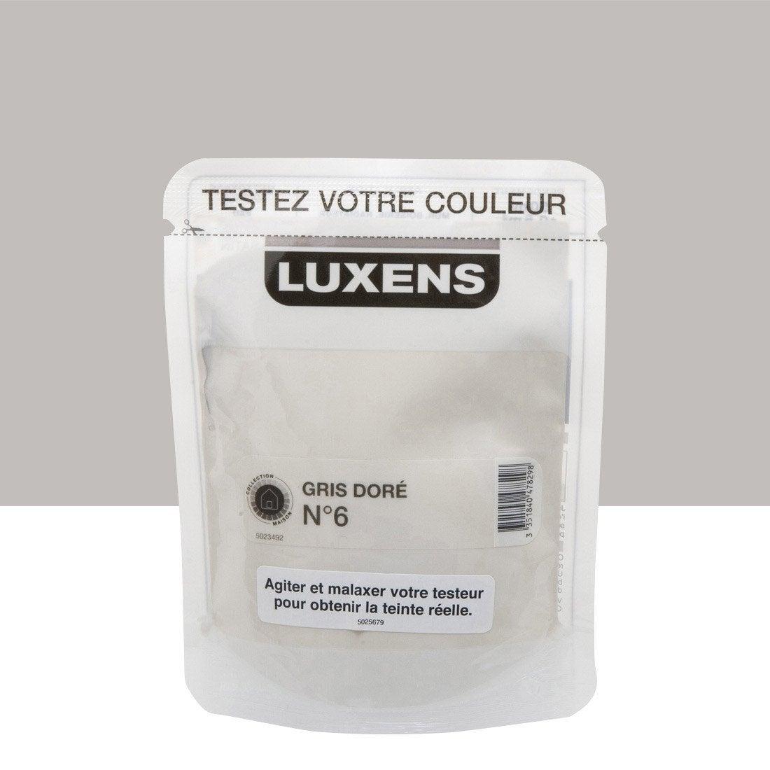 testeur peinture gris dor 6 luxens couleurs int rieures satin l leroy merlin. Black Bedroom Furniture Sets. Home Design Ideas