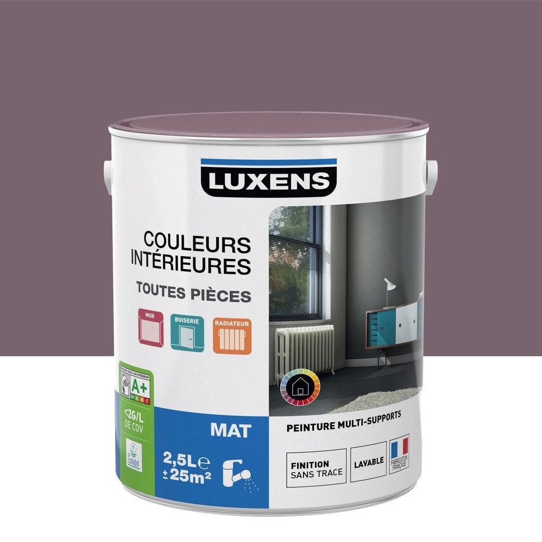 Cuisine Design Belgique : Peinture Couleurs intérieures mat LUXENS, violet aubergine n°3, 25
